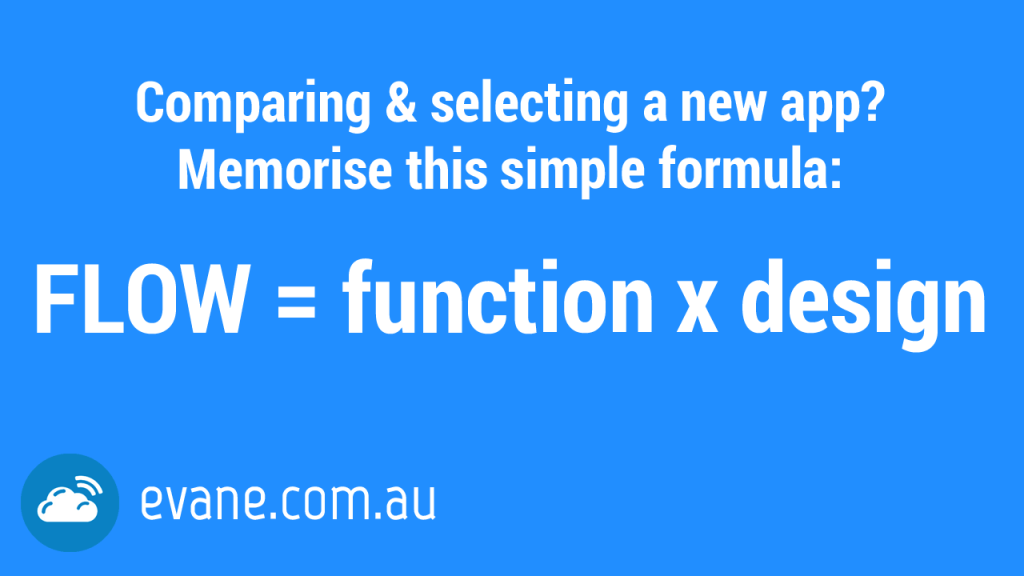 Picking a new app or system? Memorise this simple formula…